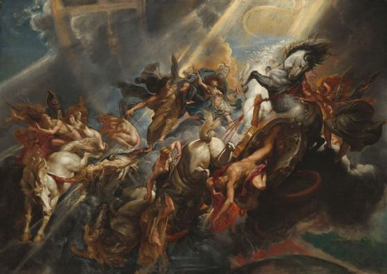 Rubens, Peter Paul: The Fall of Phaeton. Fine Art Print/Poster. Sizes: A1/A2/A3/A4 (003919)